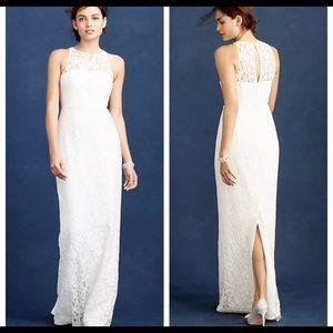 NWT J. Crew Long Pamela Lace Wedding gown. Size:8